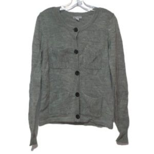 GAP Grey Button-Up Cardigan Sz M